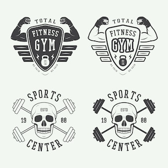 Gym logos, labels