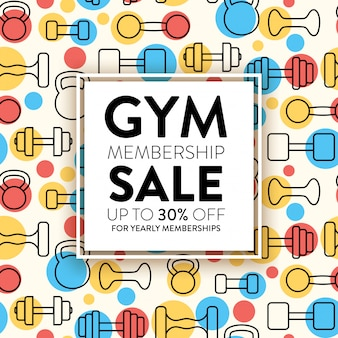 Gym membership sale template design