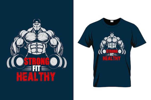 グランジ効果のあるジムの動機付けの引用tシャツのベクトルデザイン