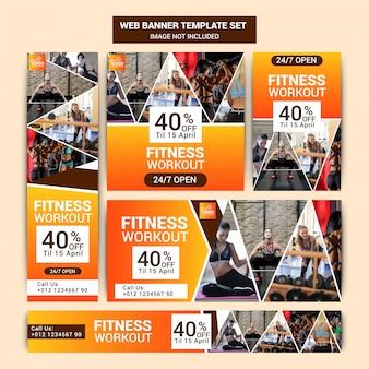 Gym social media marketing set