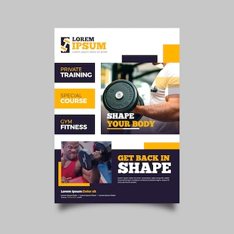 Gym sport flyer template
