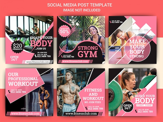 Gym & sports instagram post template