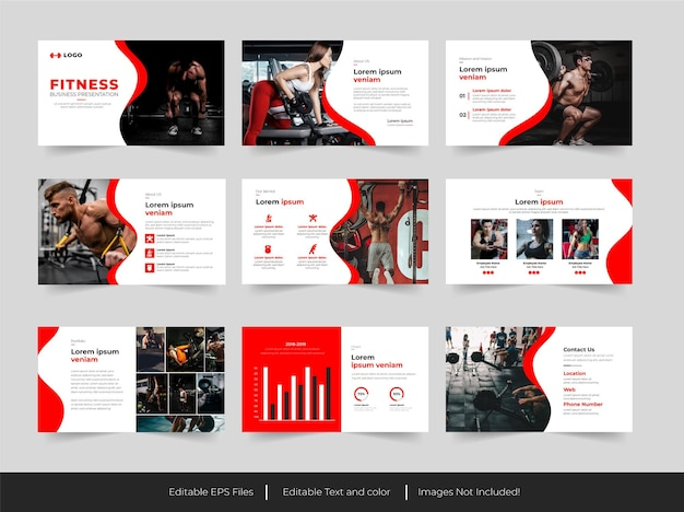 Gym trainer and  fitness   presentation  template
