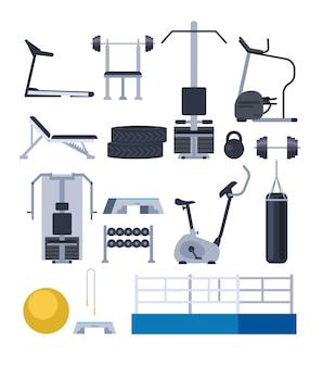 Изолированный набор оборудования тренажерного зала