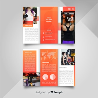 Gym trifold brochure template