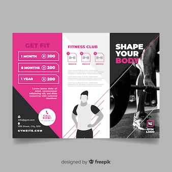 Gym trifold brochure