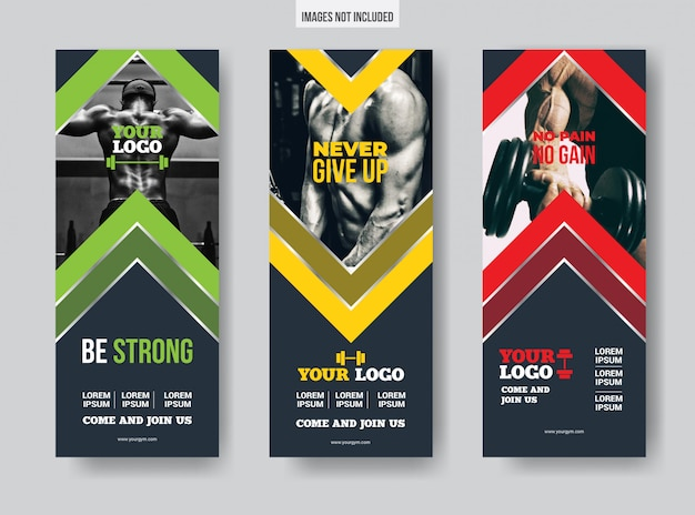 Gym vertical banner templates