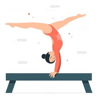 Illustrazione del concetto di ginnastica