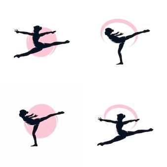 Гимнастический логотип векторные иллюстрации