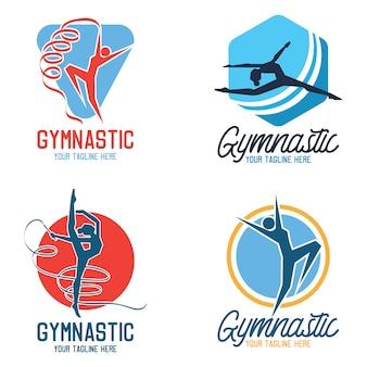 Gymnastic sport logo