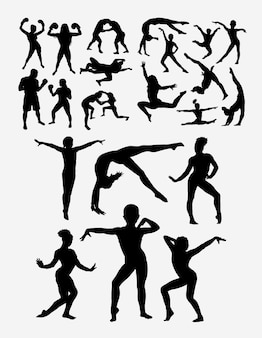 Gymnastic sport silhouette