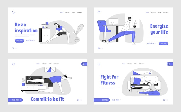 Gymnastics workout at home landing page