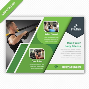 Gymnesium horizontal flyer design