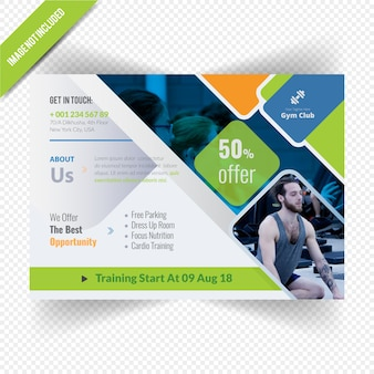 Gymnesium horizontal flyer template