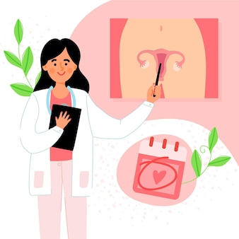 Gynecology check-up illustration