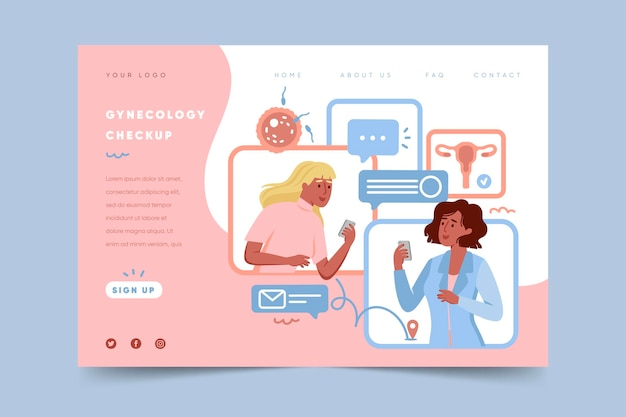 Gynecology checkup - landing page