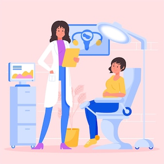 Gynecology consultation illustrated design
