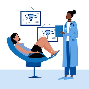 Gynecology consultation illustration concept