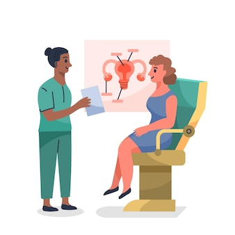 Gynecology consultation illustration