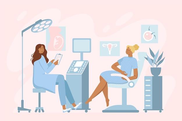 Gynecology consultation illustration