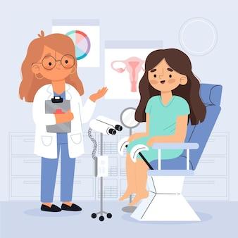 Иллюстрация консультации гинеколога