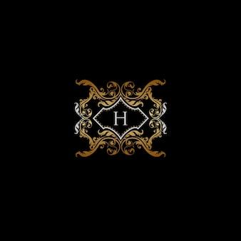 H 편지-고급 유산 로고