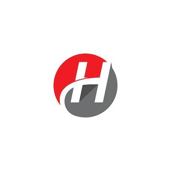 H letter logo template design