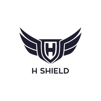 H shield with wing logo design