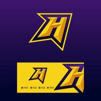 Буква h sport concept векторные иллюстрации шаблон