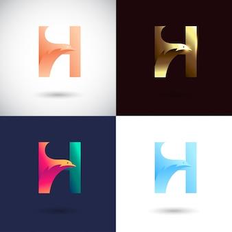 Креативный дизайн логотипа буква h