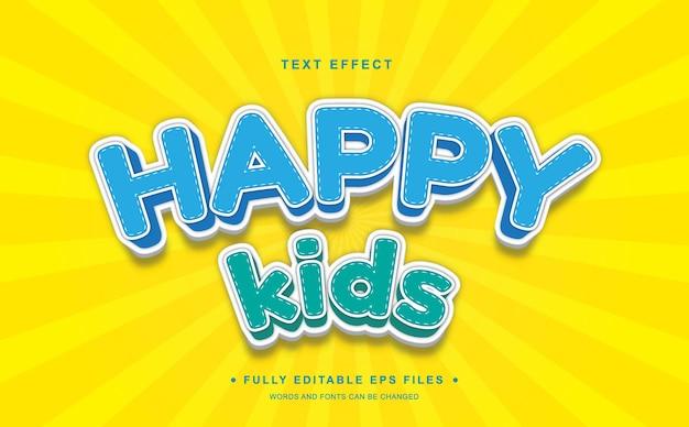 Haappy kids editable text effect