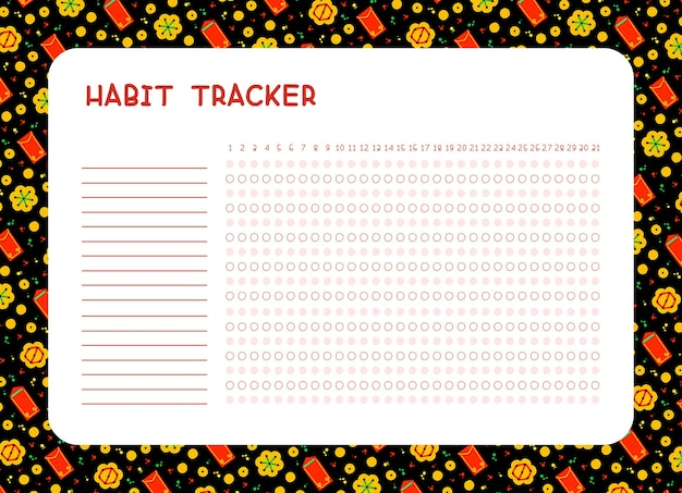 Monitoraggio delle abitudini per mese. pagina del pianificatore. pianificazione quotidiana dei risultati. calendario in bianco degli incarichi