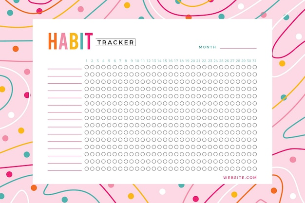 Habit tracker template