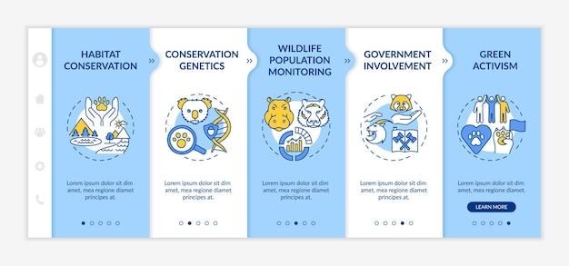 Habitat conservation onboarding template illustration