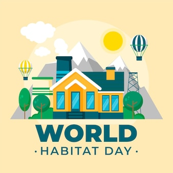 Giornata dell'habitat in design piatto