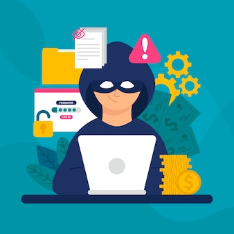 Hacker activity concept