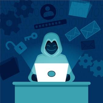 Tema di attività di hacker