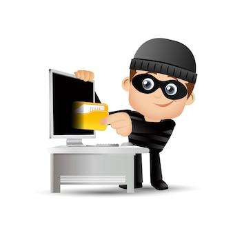 Хакер и вор иллюстрации