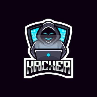ハッカー匿名ロゴチームエンブレムデザイン