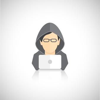 Hacker avatar flat