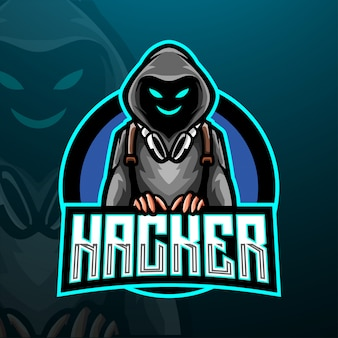 Шаблон логотипа хакер киберспорт