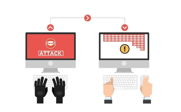 ハッカーのアイコンはパスワードを盗もうとする
