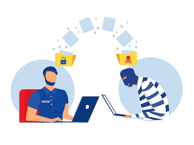 Хакер украсть данные и концепция личной информации