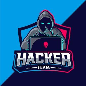 ハッカーチームのeスポーツのロゴ