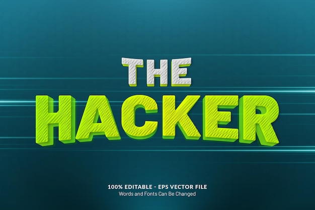 The hacker text effect