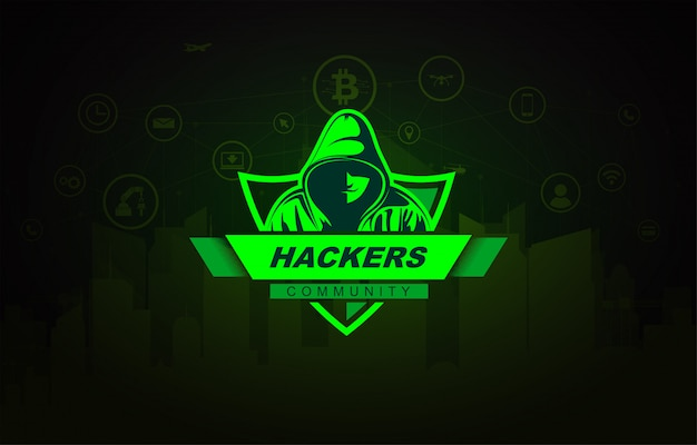 パーカーのハッカー