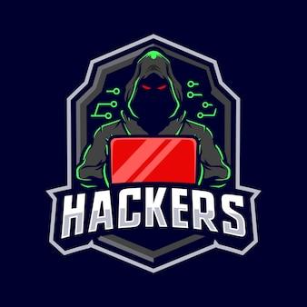 ハッカーマスコットロゴ