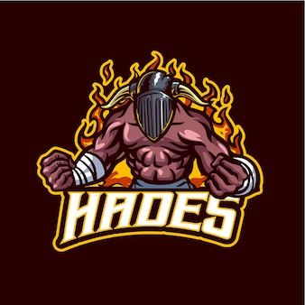 Hades mascot logo for esports and sports team