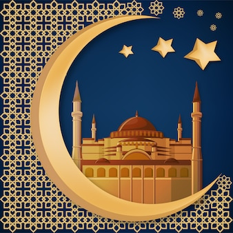 Hagia sophia, ramadan kareem abstract background.