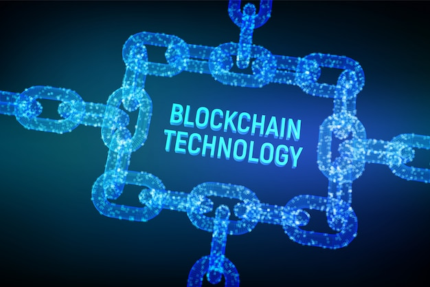 Сhain frame, blockchain concept,